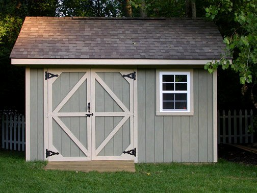 10x12 storage shed plans learn how to build a shed on a for Exterior shed doors design