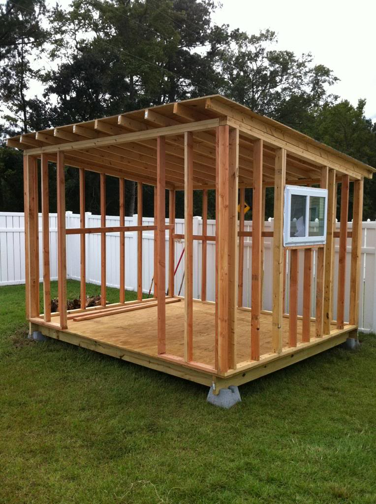 how to build a large wooden shed
