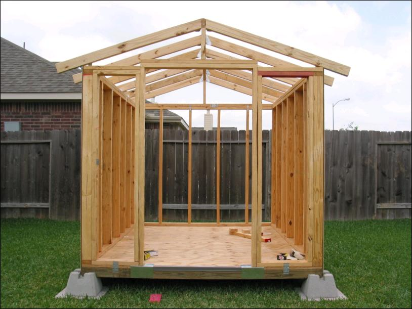 how to build a garden shed from scratch quick