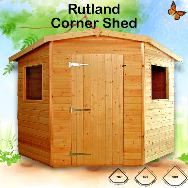 corner garden sheds 7x7 corner garden sheds 7x7 play storage outdoor lodge office wooden n - Garden Sheds 7x7