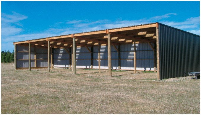 Najika information 3 sided pole barn plans for Lean to barn
