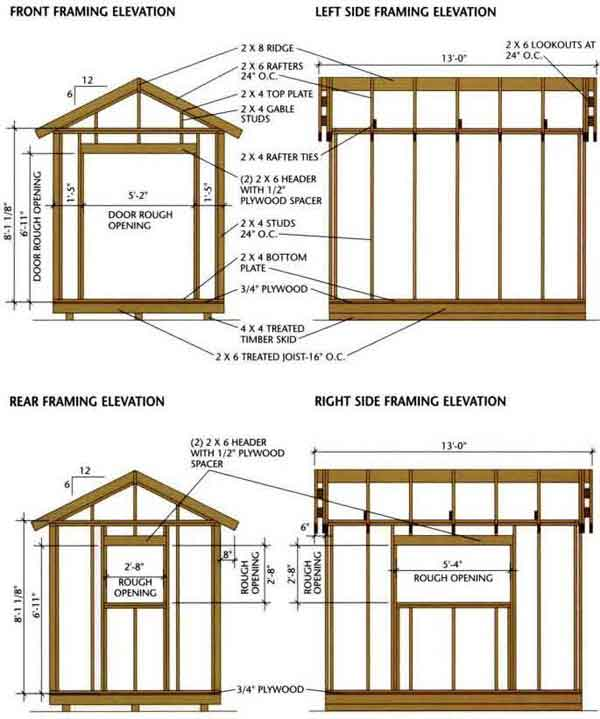 garden shed drawings