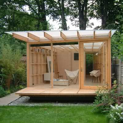 Using a garden shed as a home office cool shed deisgn for The garden office