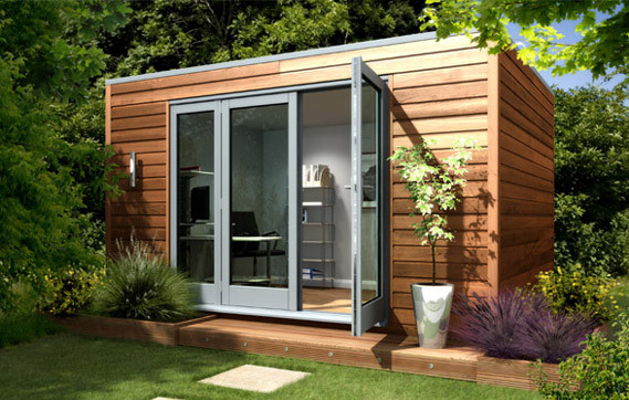 Office shed ways to build a home studio shed or office for Garden studio design