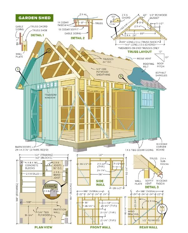 Garden Sheds Blueprints plans for cheap garden sheds | cool shed design