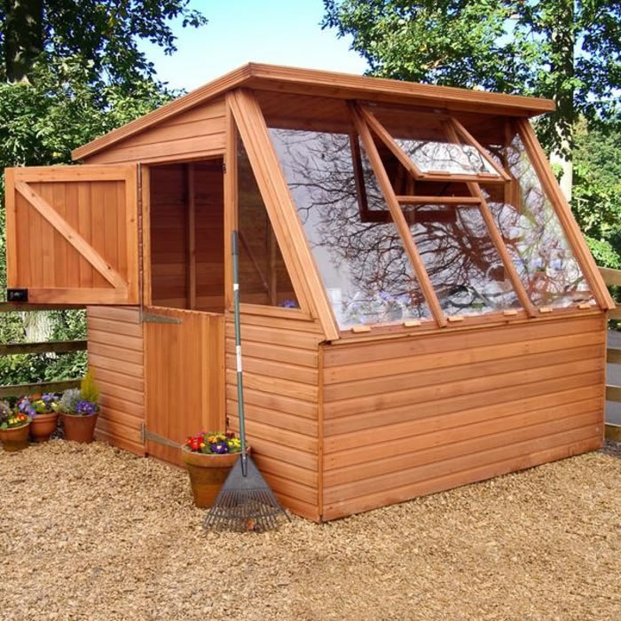 Plan your greenhouse shed for extra space for storing Green house sheds
