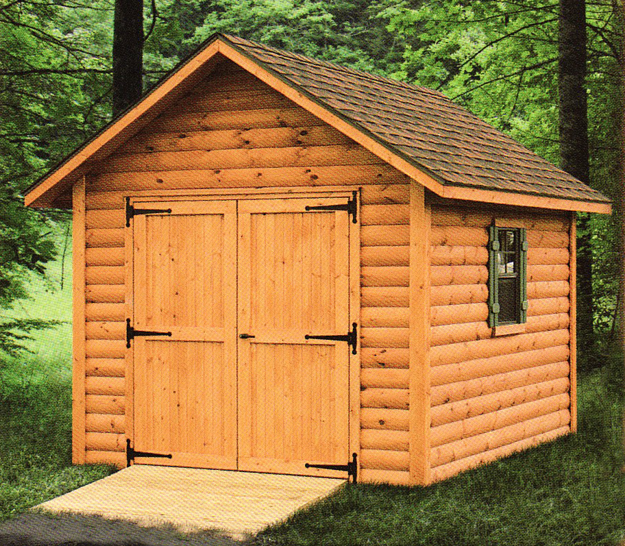 Building your log shed cool shed deisgn for Log shed design