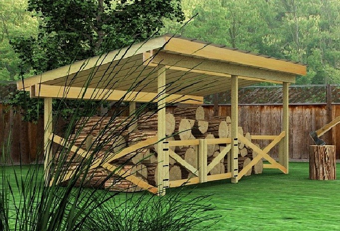 Log Wood Shed Plans