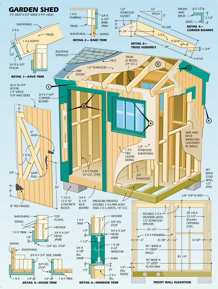 Build your own outdoor shed using outdoor shed plans for Home construction plans