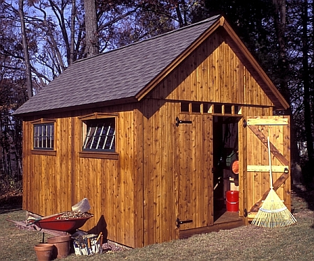 Simple shed plans in building your own outdoor sheds for Outside buildings design