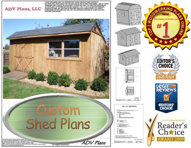 G Shed 12x8 Gable Shed Plans