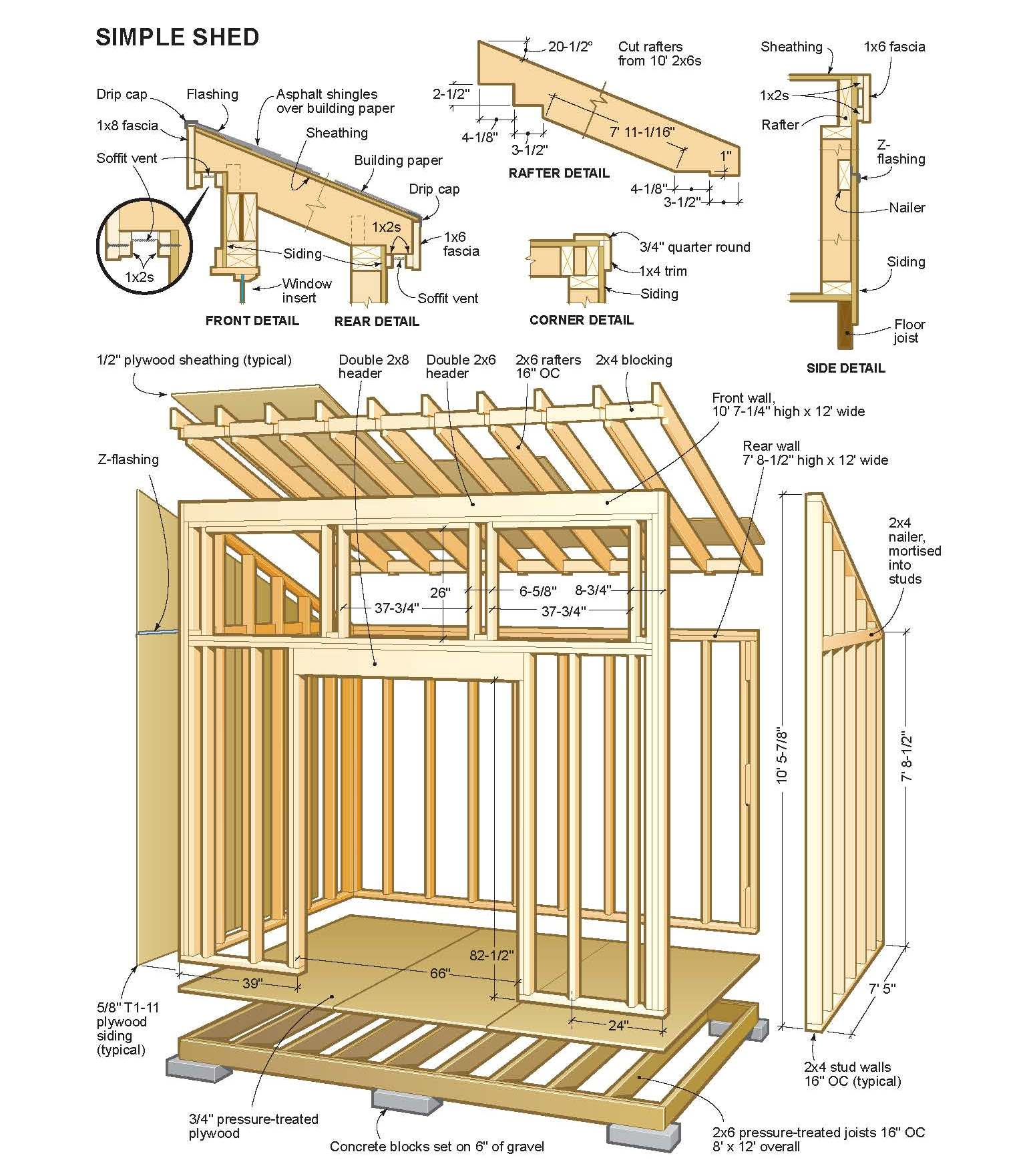 Wood Storage Shed Plans 10x12