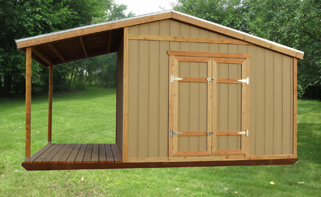 Pdf storage building plan with porch plans free for Storage shed plans pdf