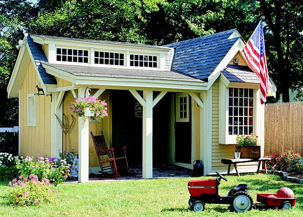 ... Shed Plans With Porch – Build a Garden Storage Shed | Cool Shed