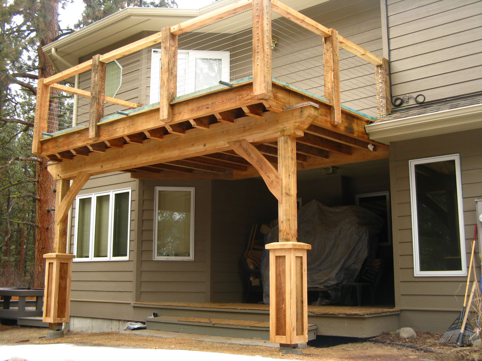 Post and beam front porch designs joy studio design for Barn house plans with porches