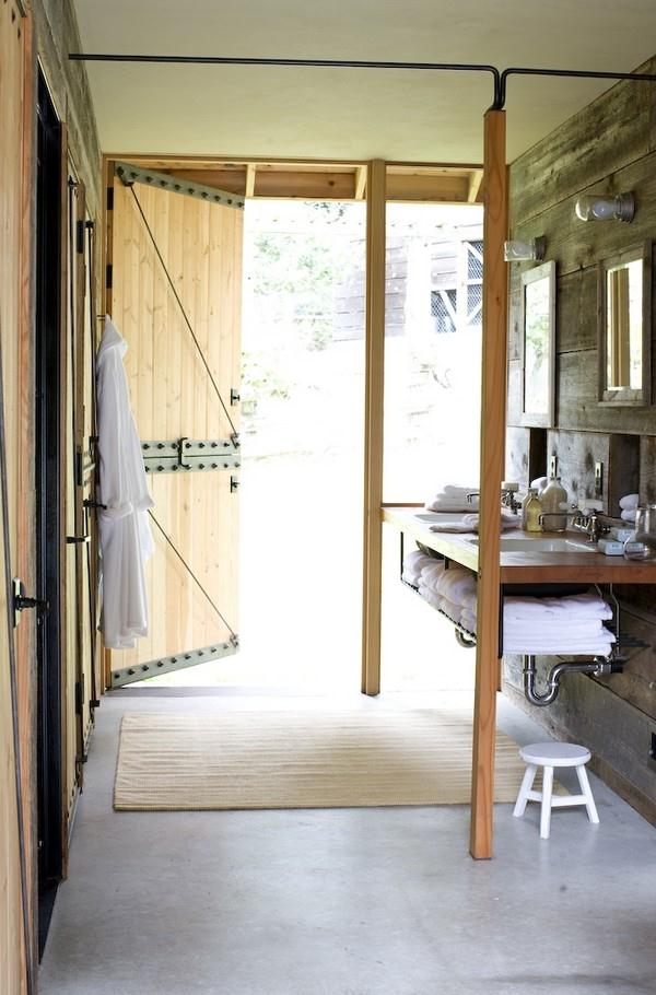 Modern home lighting options shed new light on interior - Barn style lighting for bathroom ...