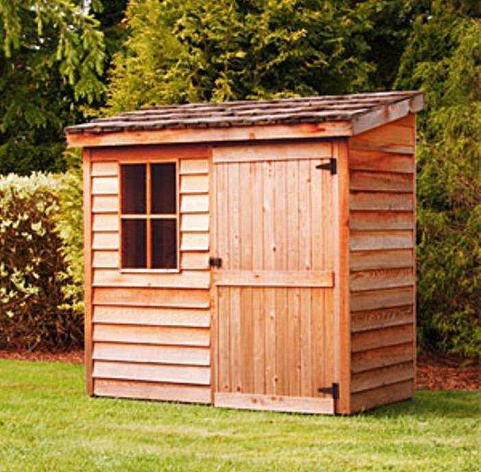 Outdoor shed big ideas for small backyard destination for Building a storage shed