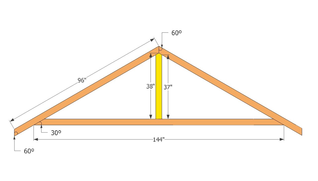 Крыша на хозблок