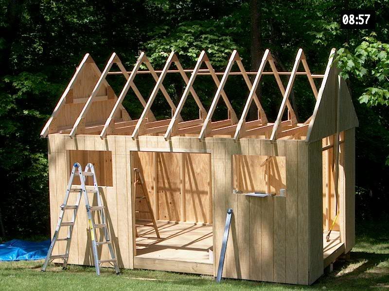 utility storage building plans