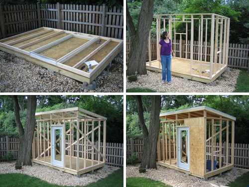 How big of shed can i build