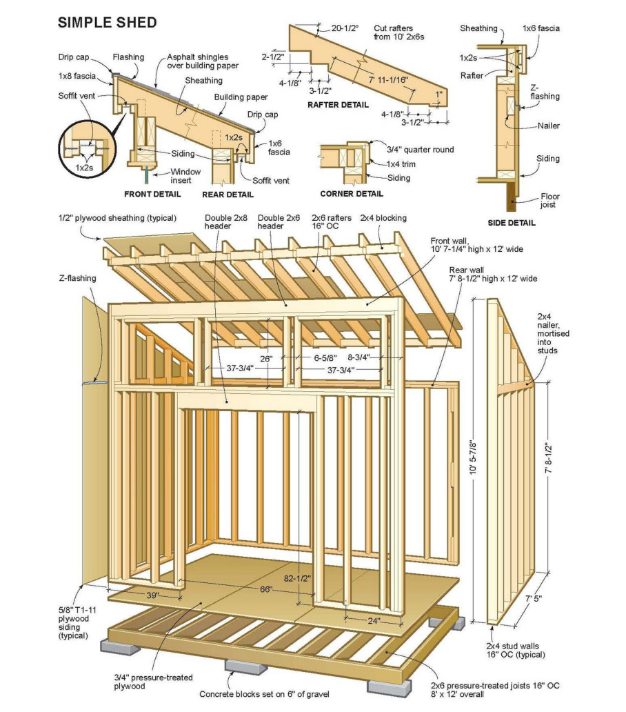 14 x 24 shed plans free sheds blueprints 7 steps to for Shed design plans