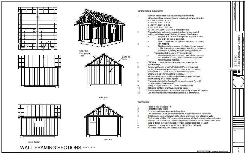 14 X 40 Shed Plans