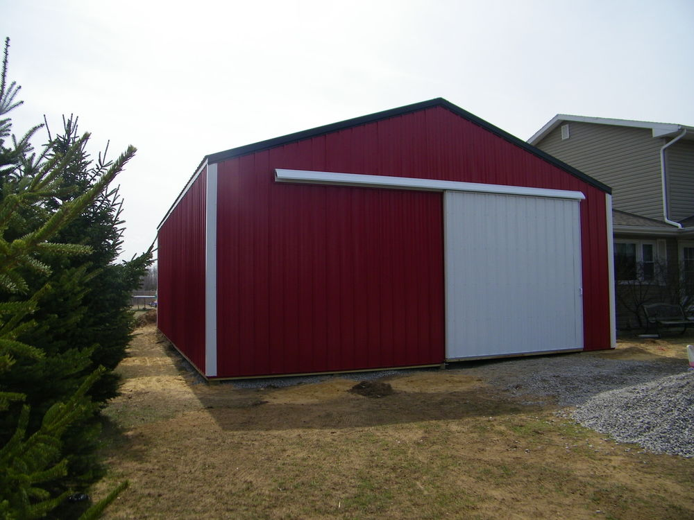 Wooden shed 30x50 barn plans learn how for Pole barn garage designs