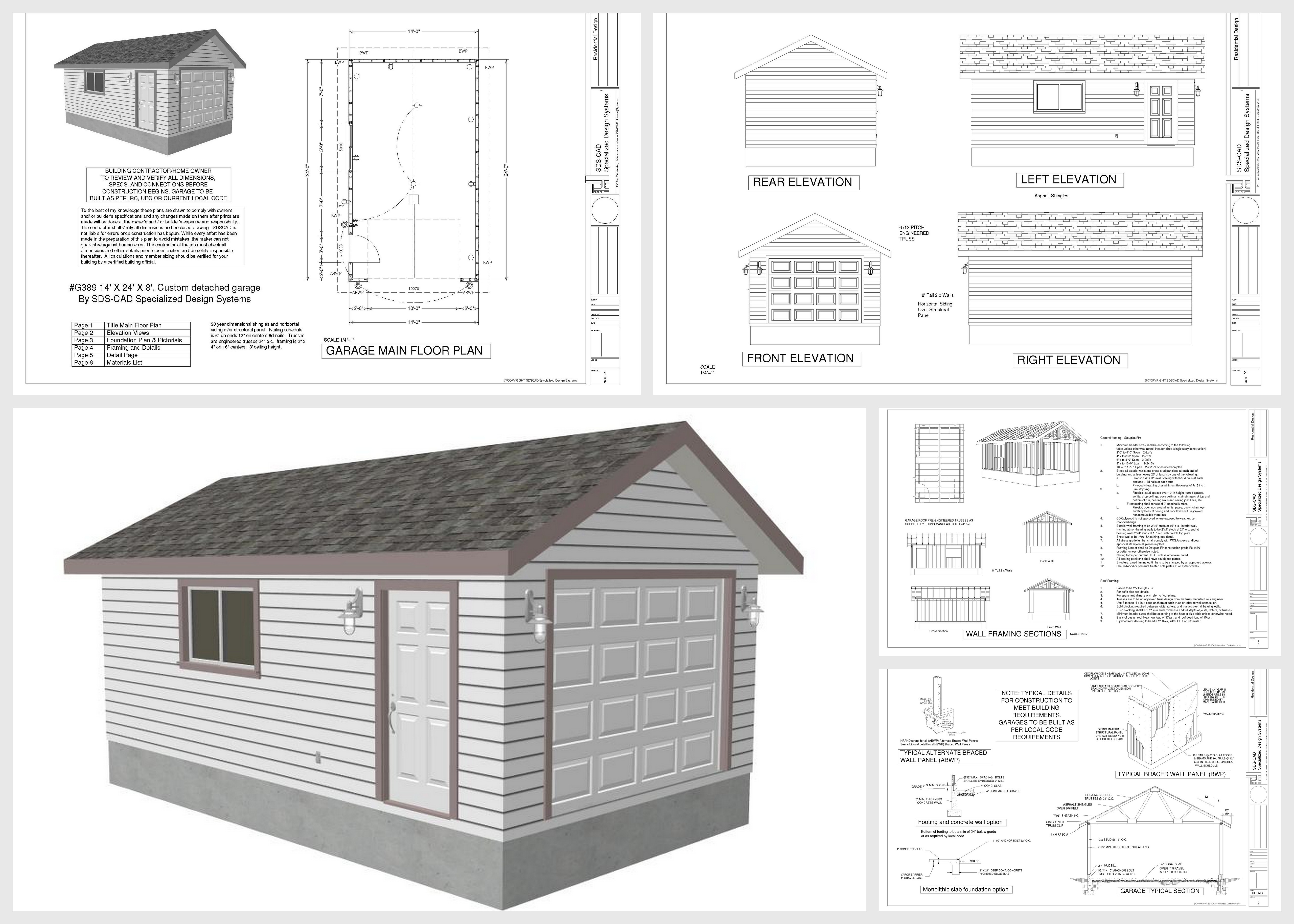 14 24 shed plans top 5 suggestions for getting the best for Garage floor plans free