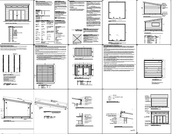 16 X 16 Shed Plans : Generating A Shed For Your Garden