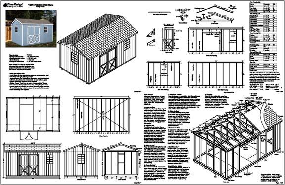 16 x 16 shed plans free storage shed designs 5 features for Shed building plans pdf