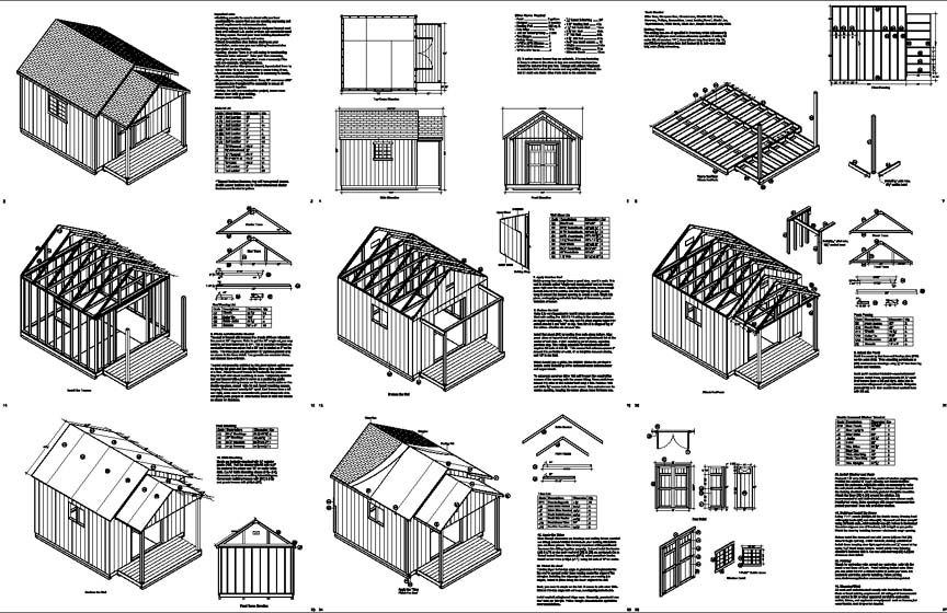16 X 16 Shed Plans Free