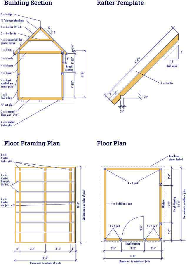 Free 8 X 10 Shed Plans