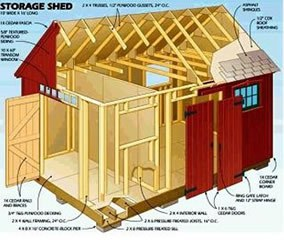 free 8 x 12 shed plans choosing the perfect shed plans 4. Black Bedroom Furniture Sets. Home Design Ideas