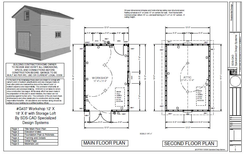 Free Shed Plans 12 X 36