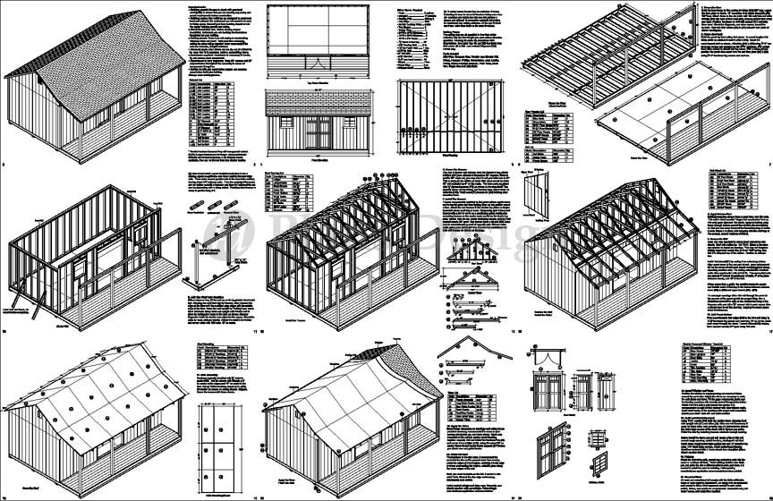 16x24 diy shed pics joy studio design gallery best design for Free barn blueprints