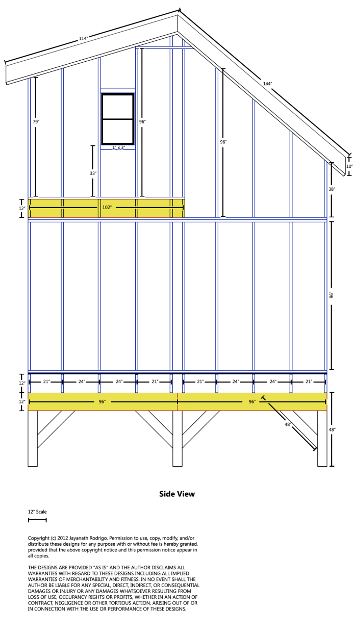 Free Shed Plans 14 X 24
