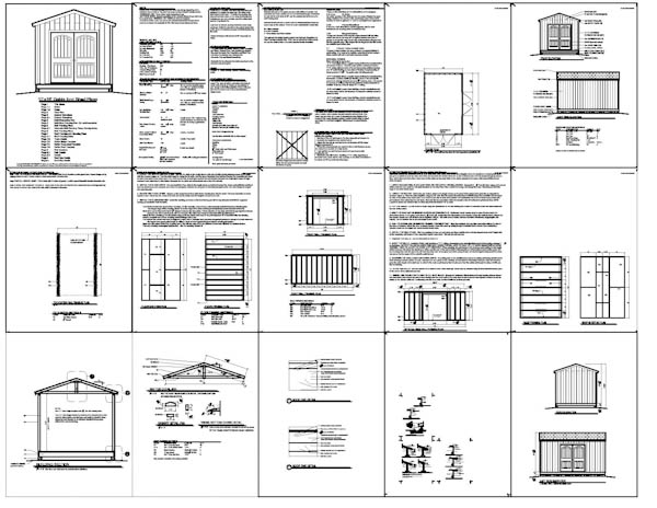 Shed plans 10 16 garden shed plans building your own for Pdf shed plans