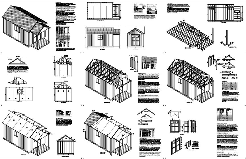 Shed Plans 10×20