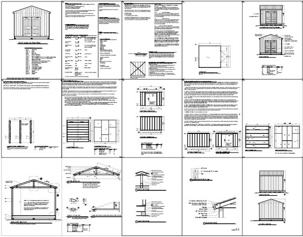 Shed plans 12 12 anyone can build a shed cool shed deisgn for Blueprint builder free