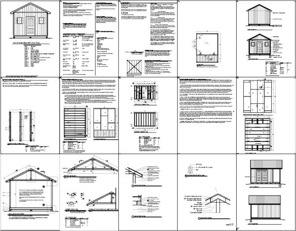 Shed Plans 12x16 Free : Construct Your Own Shed By Way Of Free Shed Plans