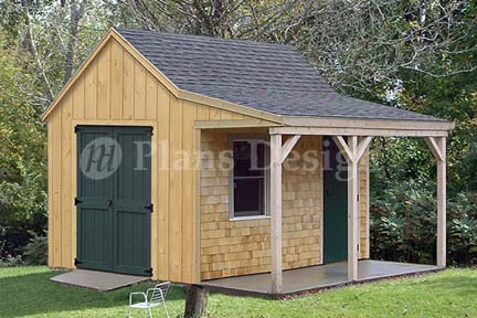 Shed plans 14 20 free a complete shed program to supply for Shed with porch