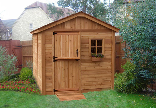 Beautify Your Lawn Or Porch With The Addition Of This Long Lasting Outside  Dwelling These Days Sunshed Western Red Cedar Garden Shed.