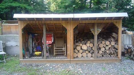 Wood Sheds Designs That Ensure a Clean, Hot Burning Fire ...